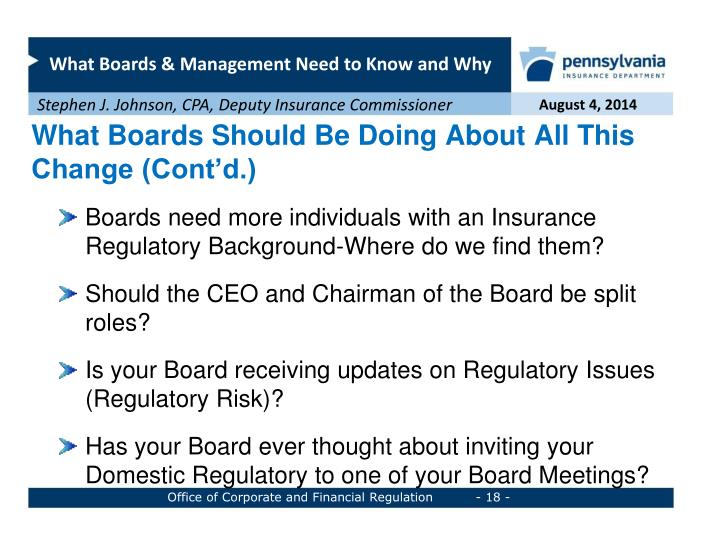 What Boards Should Be Doing About All This Change (Cont'd.)