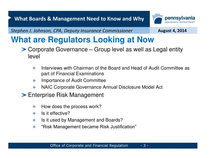 What are Regulators Looking at Now