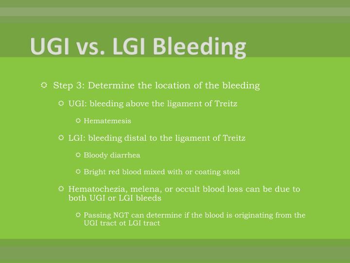 UGI vs. LGI Bleeding
