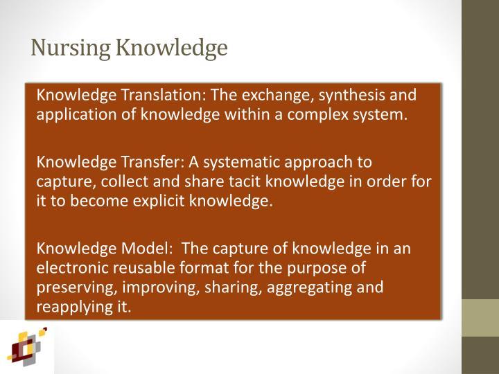 Nursing Knowledge