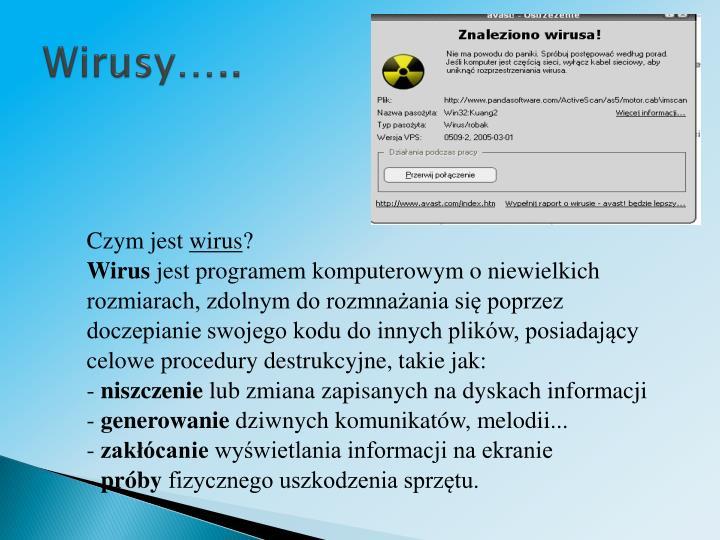 Wirusy…..