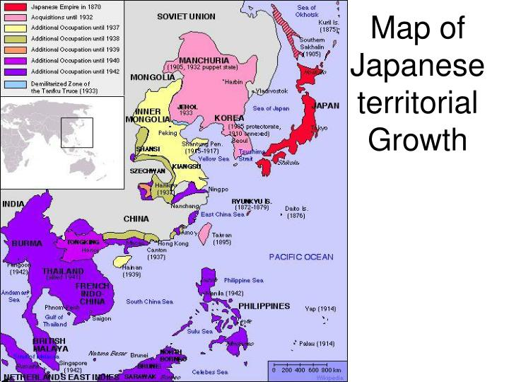Map of Japanese territorial Growth