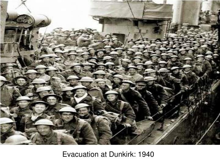 Evacuation at Dunkirk: 1940