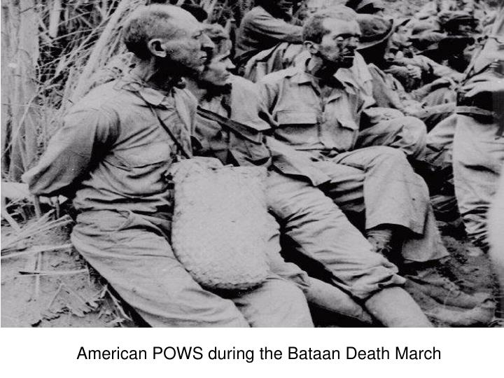 American POWS during the Bataan Death March