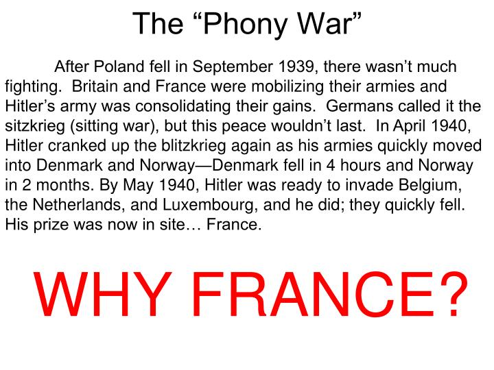 "The ""Phony War"""