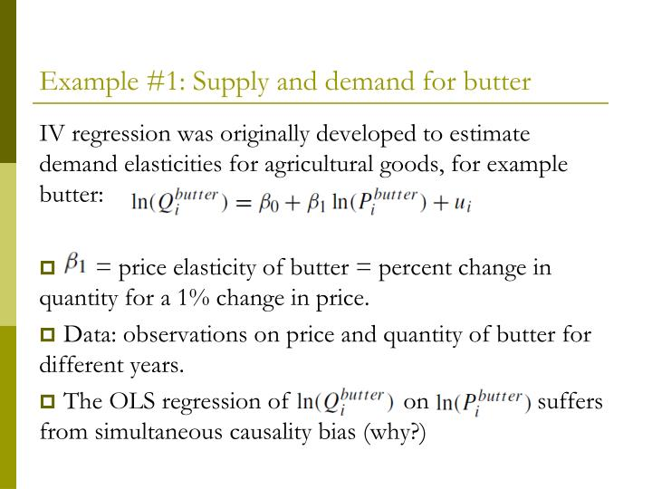 Example #1: Supply and demand for butter