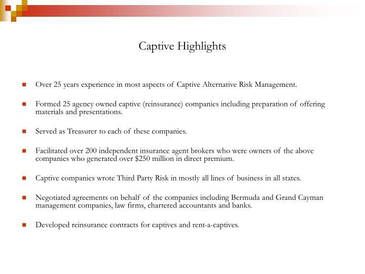 Captive Highlights