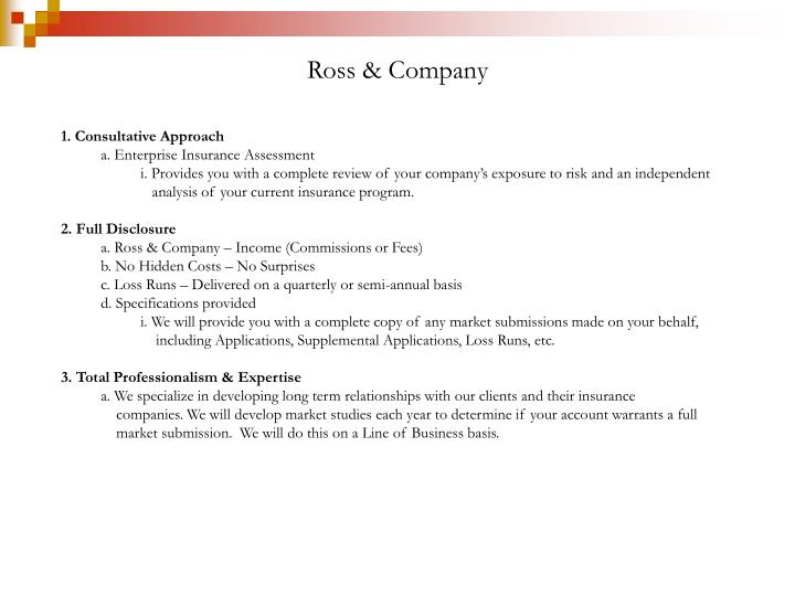 1. Consultative Approach