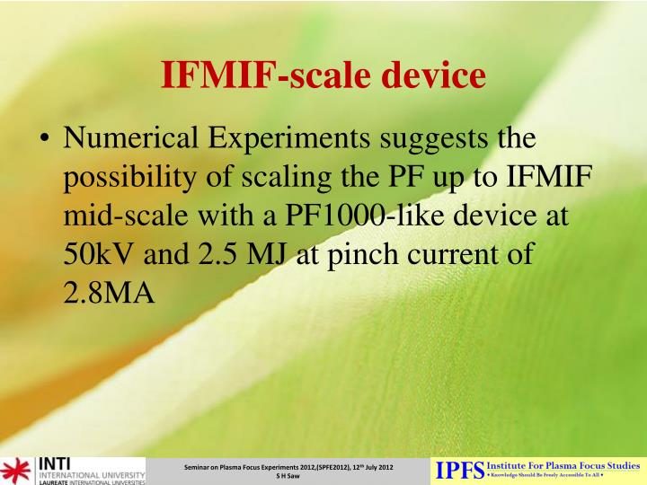 IFMIF-scale device