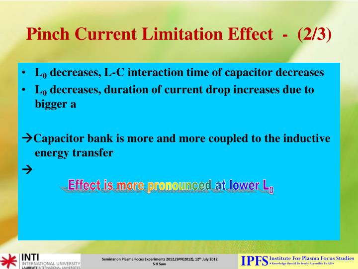 Pinch Current Limitation Effect  -  (2/3)
