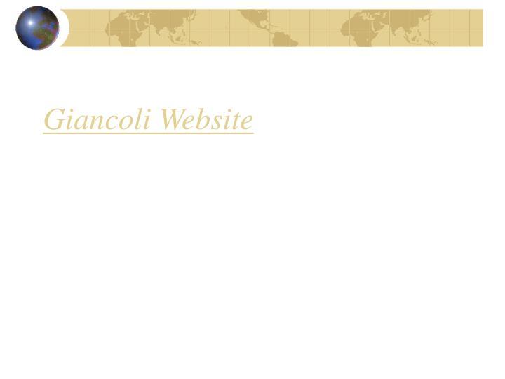 Giancoli Website