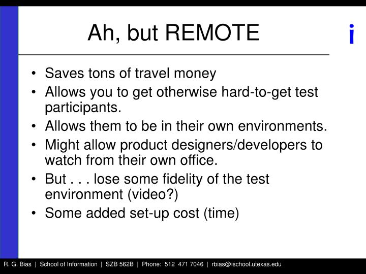 Ah, but REMOTE
