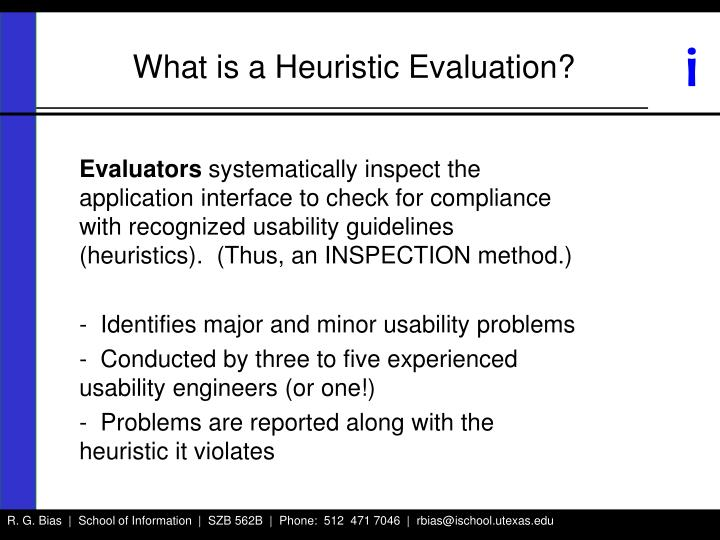 What is a Heuristic Evaluation?