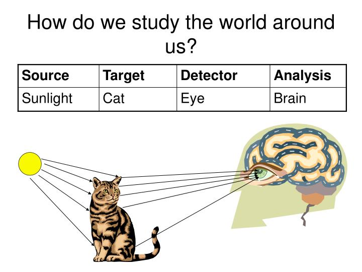 How do we study the world around us?
