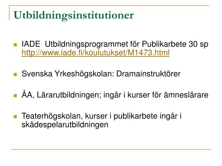Utbildningsinstitutioner