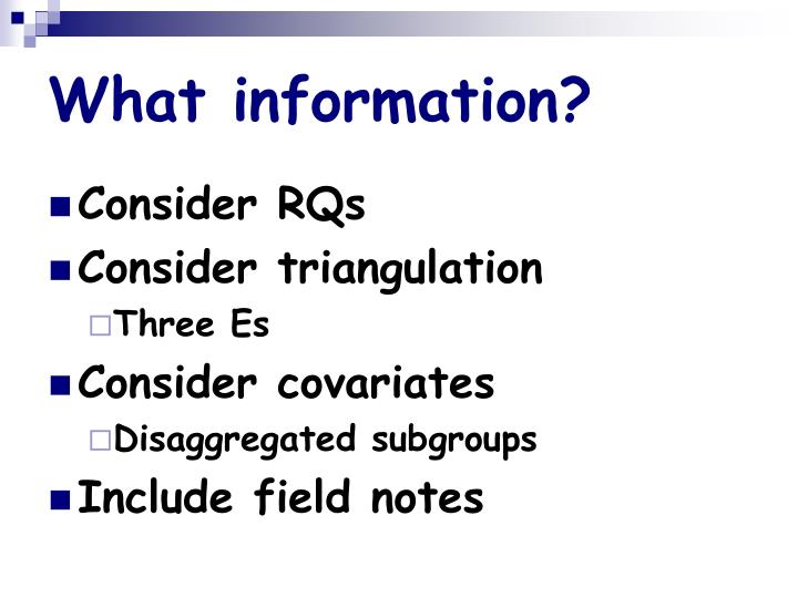 What information?