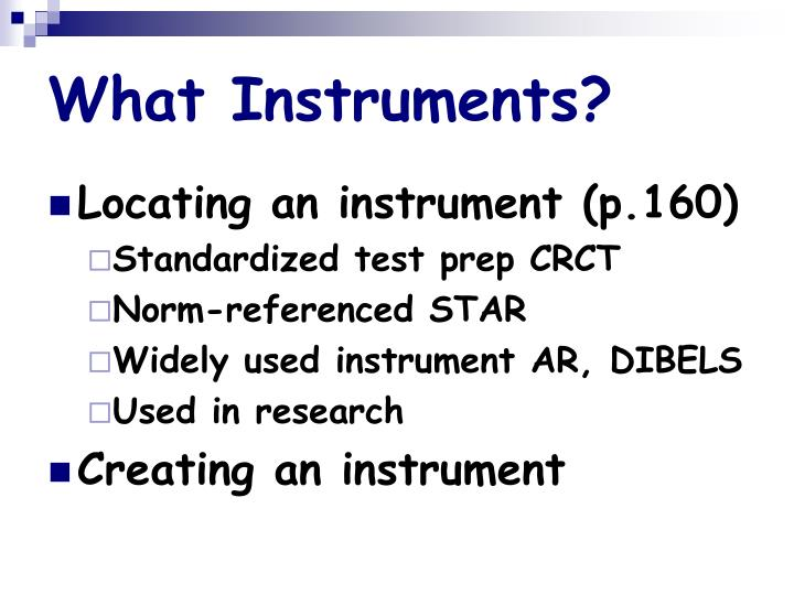What Instruments?
