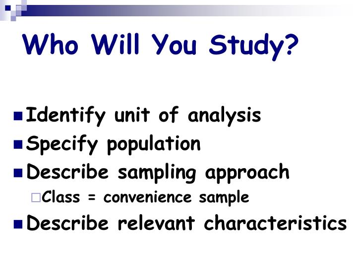 Who Will You Study?
