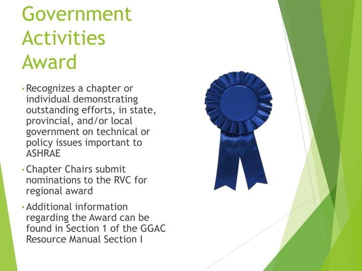 Government Activities Award