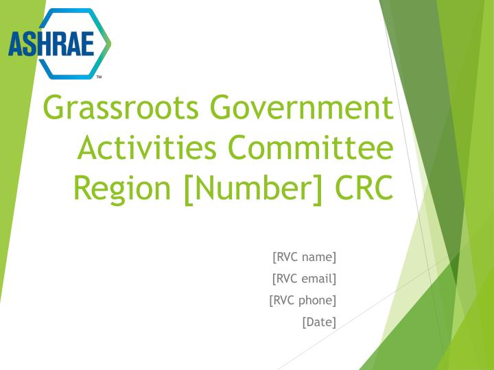 Grassroots government activities committee region number crc