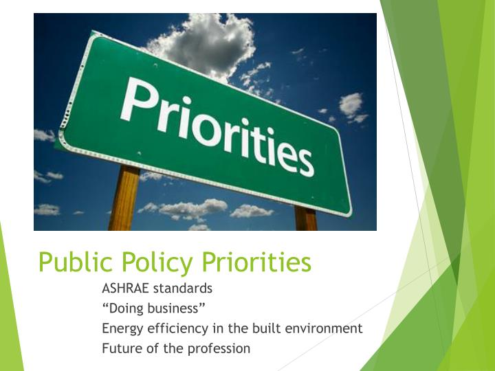 Public Policy Priorities