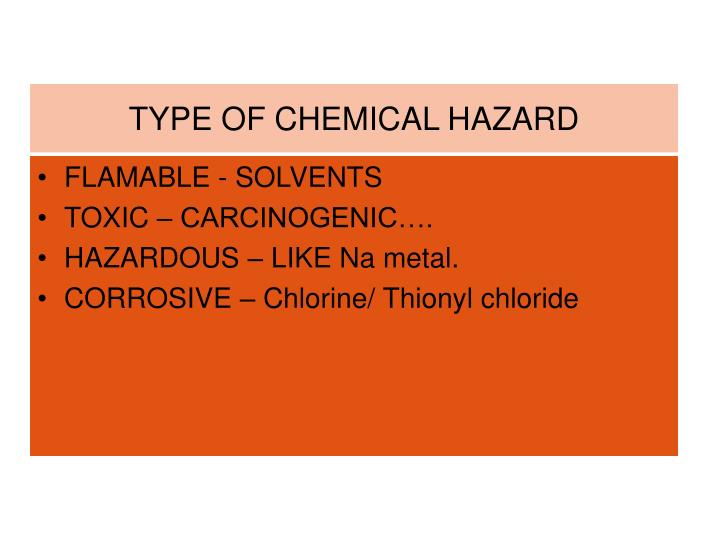 TYPE OF CHEMICAL HAZARD