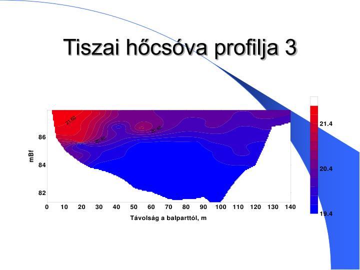 Tiszai hőcsóva profilja 3