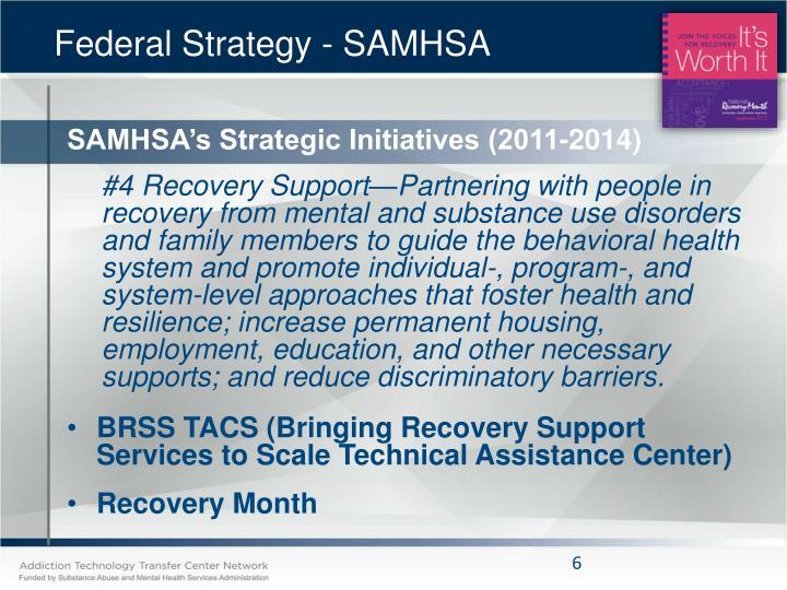 Federal Strategy - SAMHSA