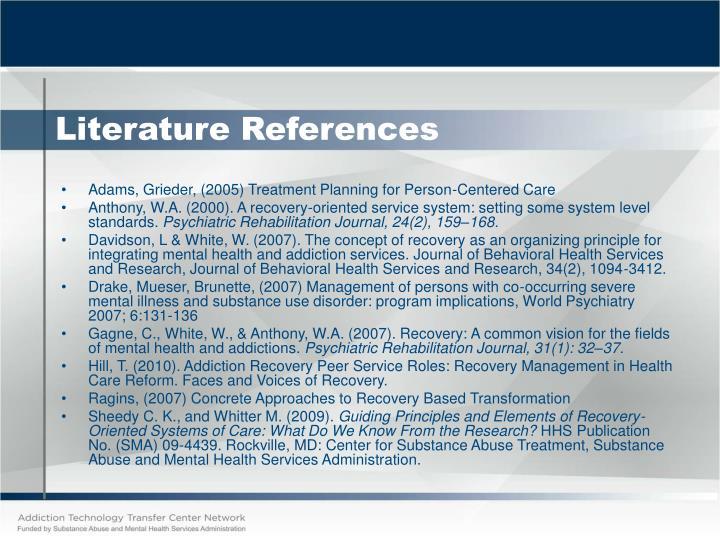 Literature References