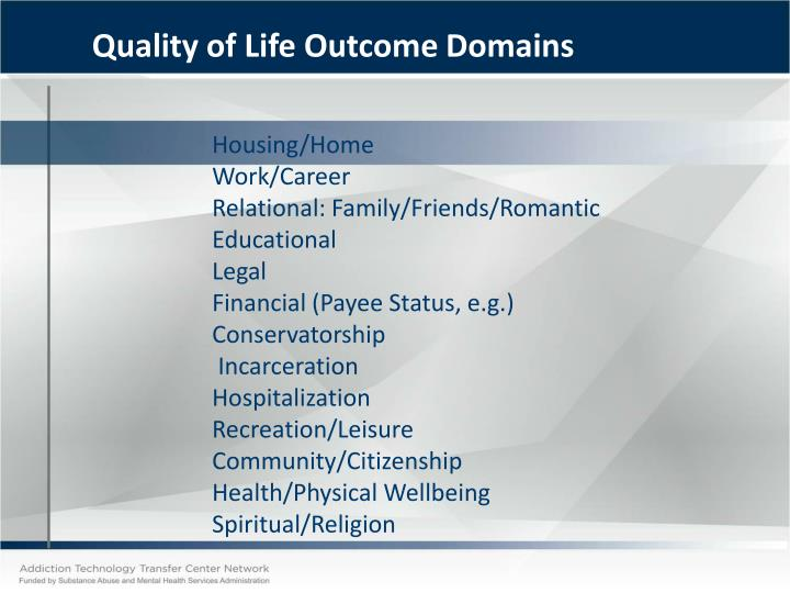 Quality of Life Outcome Domains