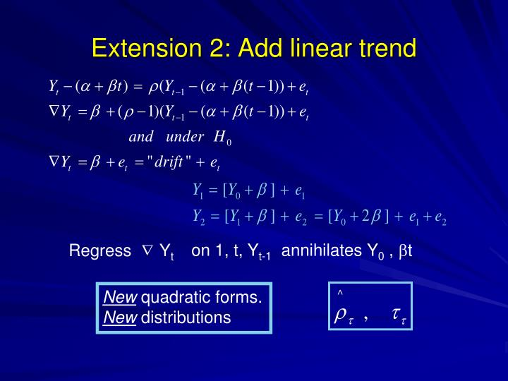 Extension 2: Add linear trend