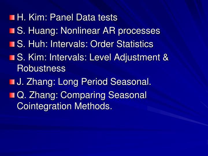 H. Kim: Panel Data tests