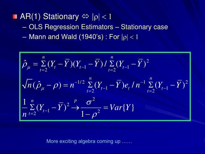 AR(1) Stationary