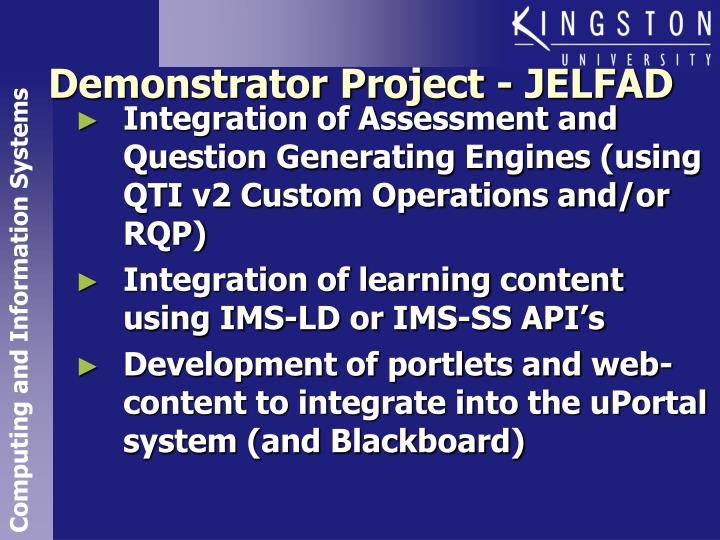 Integration of Assessment and Question Generating Engines (using QTI v2 Custom Operations and/or RQP)