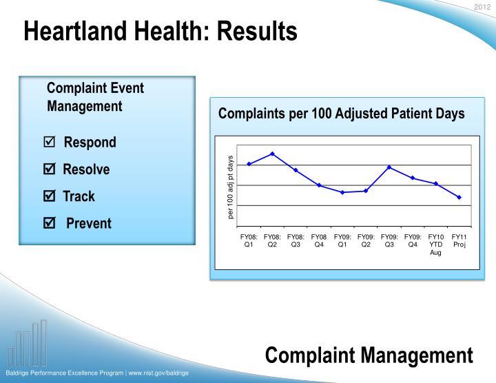 Heartland Health: Results