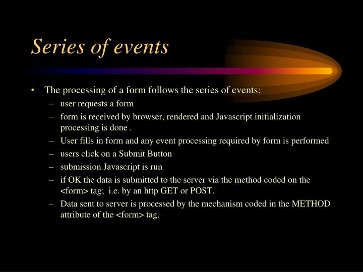 Series of events