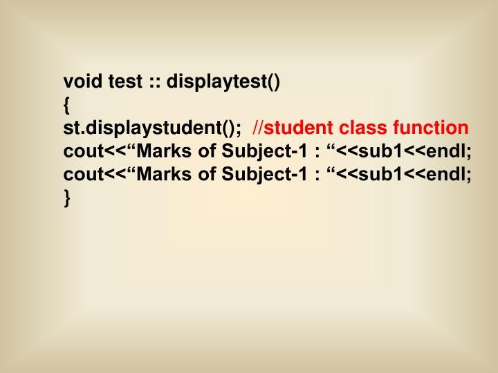 void test :: displaytest()