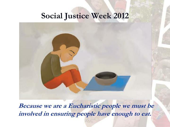 Social Justice Week 2012