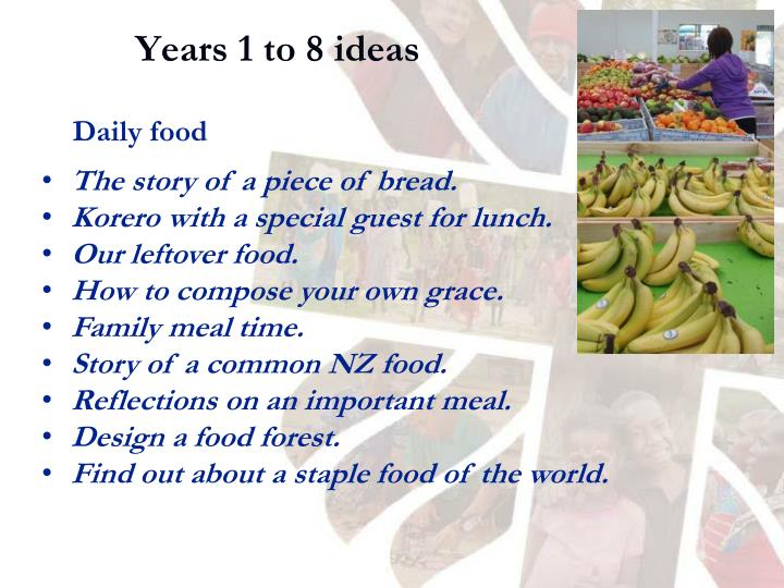 Years 1 to 8 ideas