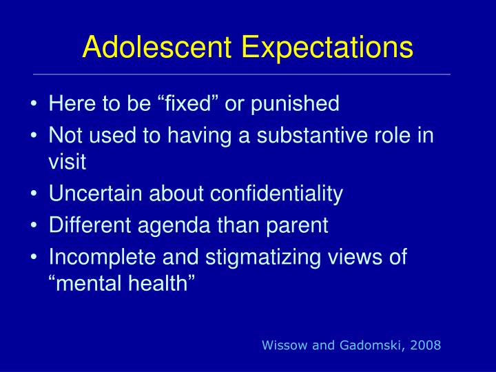 Adolescent Expectations