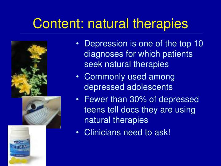 Content: natural therapies
