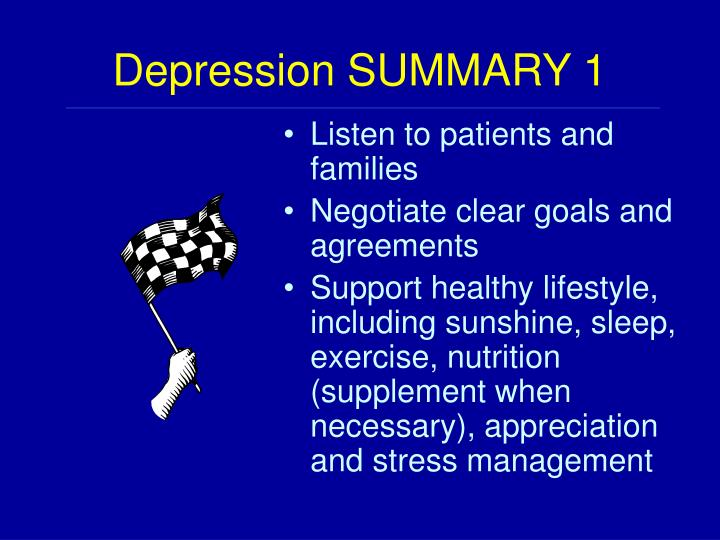 Depression SUMMARY 1