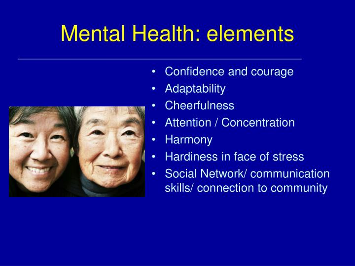 Mental Health: elements