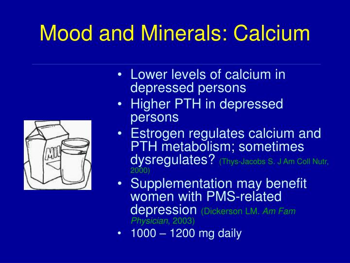 Mood and Minerals: Calcium