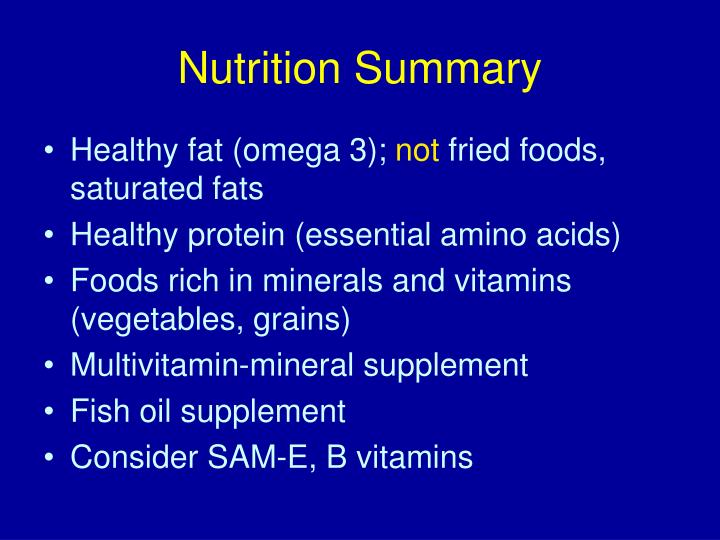 Nutrition Summary