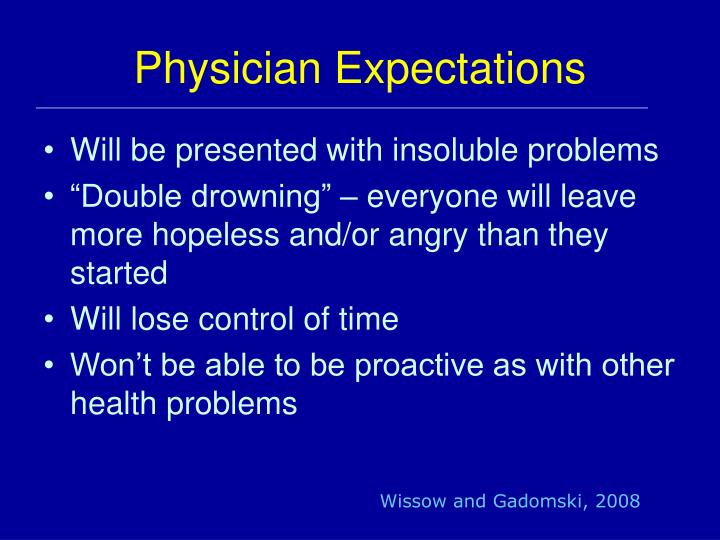Physician Expectations