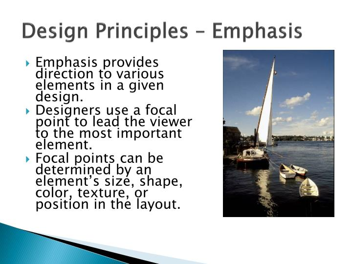 Design Principles – Emphasis