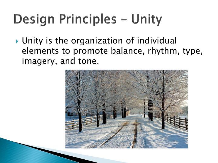 Design Principles – Unity