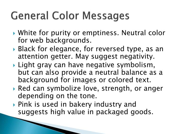 General Color Messages