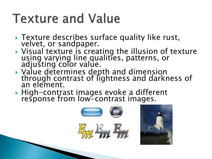 Texture and Value